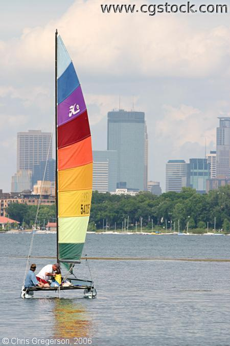 Sailboat and Minneapolis Skyline