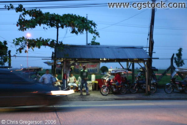 Trike Stand at Night, Angeles City