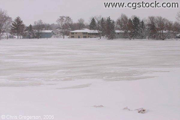 Frozen Wisconsin Lake