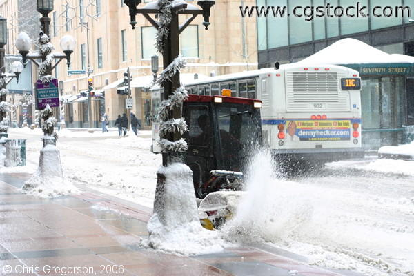 Snow Sweeper/Snow Clearing Equipment, Nicollet Mall