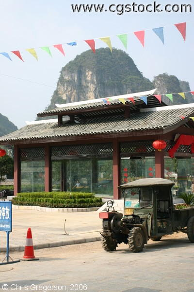 Pagoda, Kurst Mountains, and Old Truck