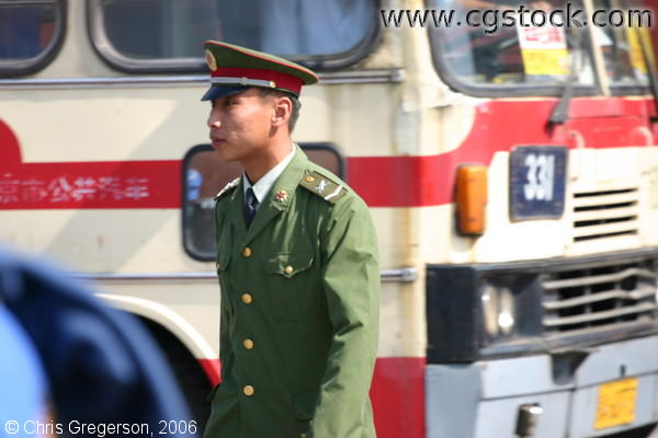 Chinese Soldier outside the Summer Palace