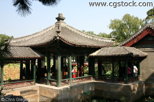 Pagoda-Type Patio by the Front Lake, Summer Palace, Beijing