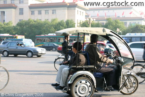 Motorcycle Cart and Passenger, Beijing Street