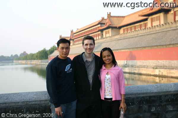 Three Friends in Beijing, China