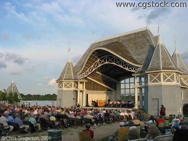 Lake Harriet Bandshell During a Summer Concert
