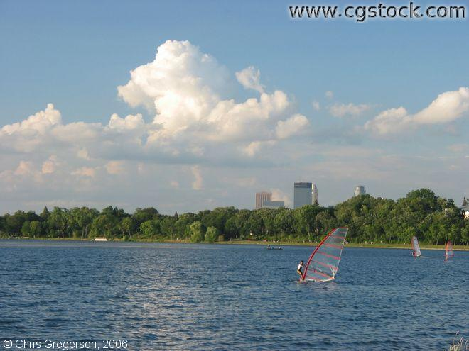 Windserfer on Lake Calhoun