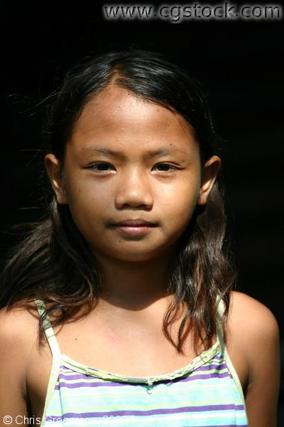 Close-up Picture of a Young Brown-Skinned Girl