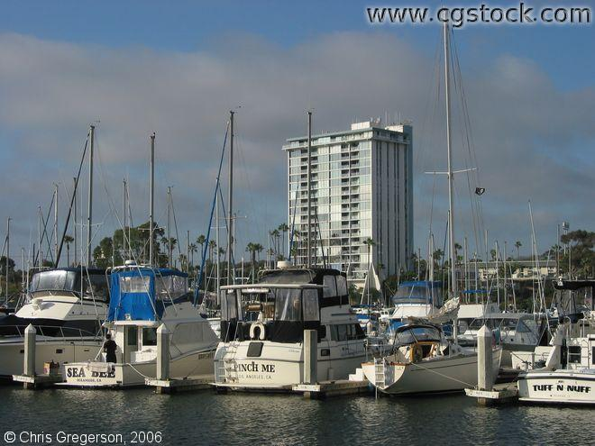 Boats Mored at the Oceanside Marina