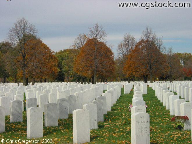 Rows of Headstones, Fort Snelling National Cemetery