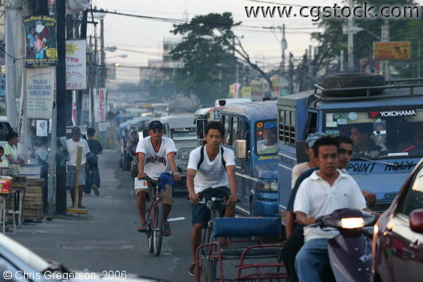 Typical Busy Street in Angeles City, Pampanga