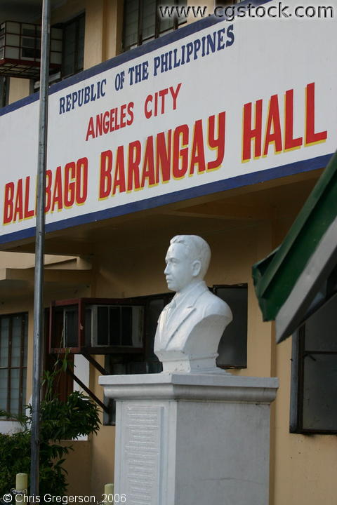 The Frontage of the Barangay Hall of Balibago, Angeles, Pampanga