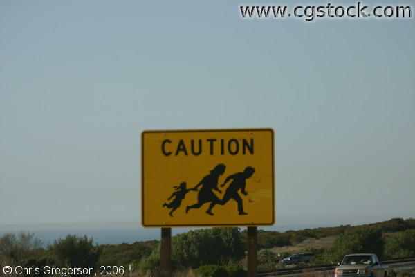 Caution:Illegal Immigrant Crossing