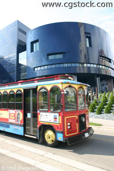 The New Guthrie Theater Building and River City Trolly