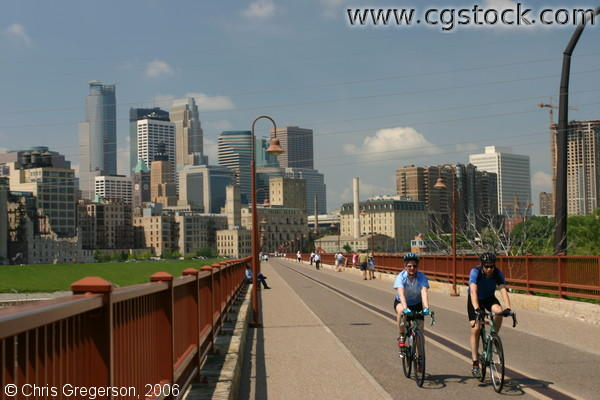 Bicycles on the Stone Arch Bridge