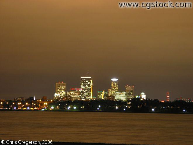 Minneapolis Night Skyline from Lake Calhoun