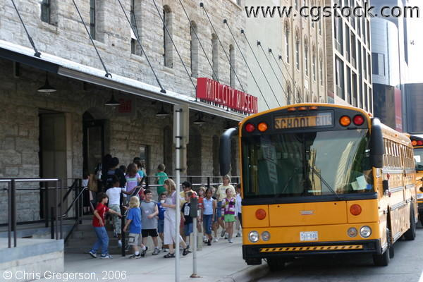 School Children Arriving at the Mill City Museum