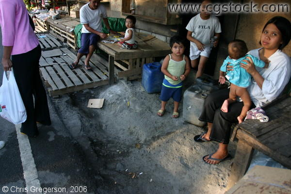 Poor People Living at the Market of Tagaytay