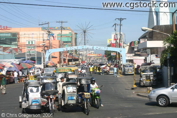 Tricycles for Public Transport in Imus, Cavite, Philippines