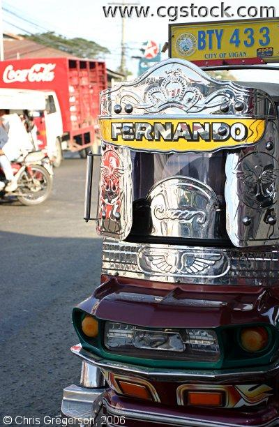 Decorative Designs from a Tricycle in Vigan, Ilocos Sur, Philippines