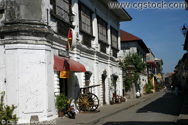 A Lane of Spanish-Style Houses in Vigan, the Philippines