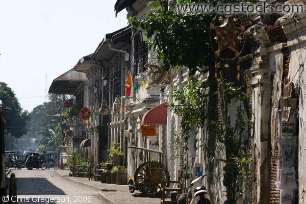 Lane of Spanish-Styled Houses in Vigan, Ilocos Sur