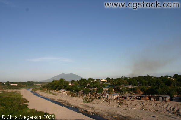 Abacan River with Mount Arayat in Angeles City, Pampanga