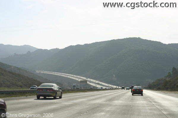 California Highway to San Diego Winding Through the Mountains