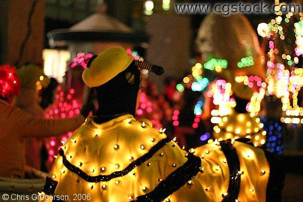 Character in the Minneapolis Holidazzle Parade in a Lighted Costume