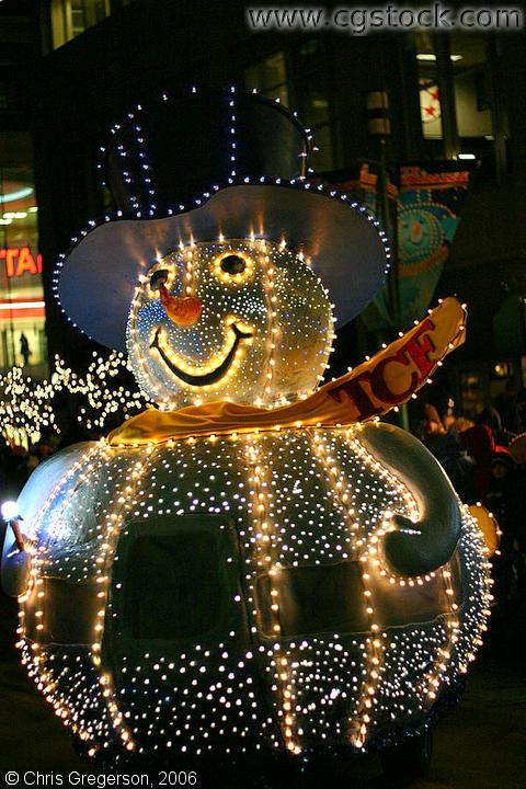 Giant Snowman in Lights, Holidazzle Parade