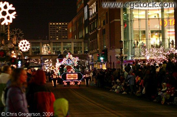 The Holidazzle Parade on Nicollet Mall