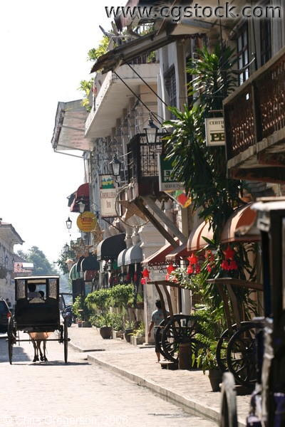 Narrow Street in the Mestizo District in Vigan, Ilocos Sur