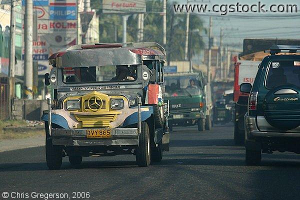 A Jeepney on the Road in Tarlac in the Philippines