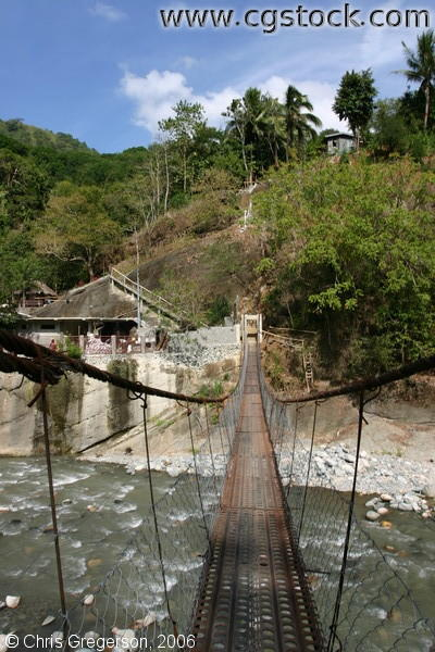 Suspension Bridge for Pedestrians on Kennon Road in the Philippines