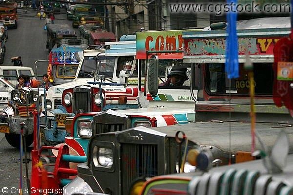 Jeepney Terminal at Mabini Road in Baguio City, The Philippines