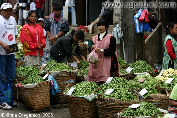 Bulk Fresh Vegetables For Sale in the Baguio Public Market