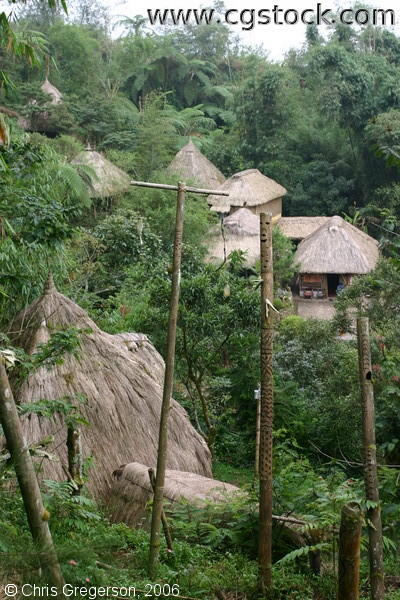 Traditional Ifugao Huts in Tam-Awan Village, Baguio City