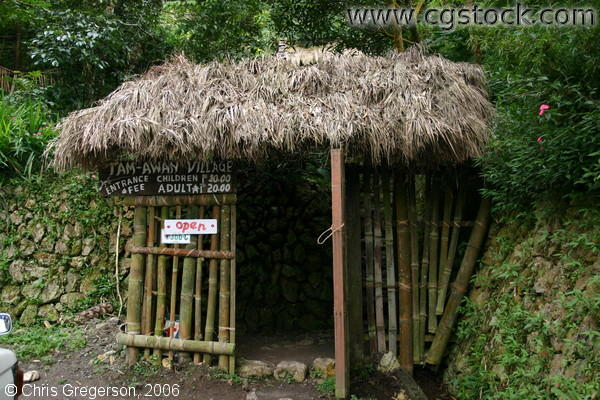 The Hut at the Entrance of Tam-Awan Village in Baguio City