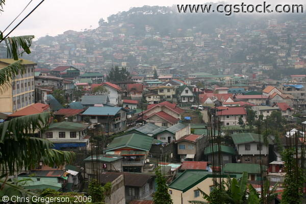 Overcrowded Lowland and Hillsides of Baguio City