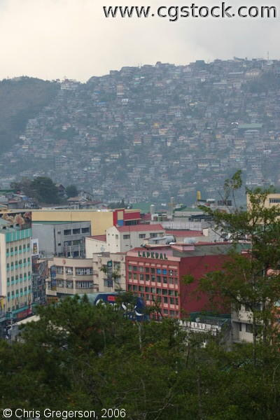 The City Proper and Hillsides of Baguio City, the Philippines