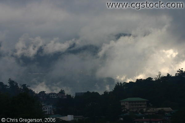 Cumulus Clouds Formation Over Baguio City, the Philippines.