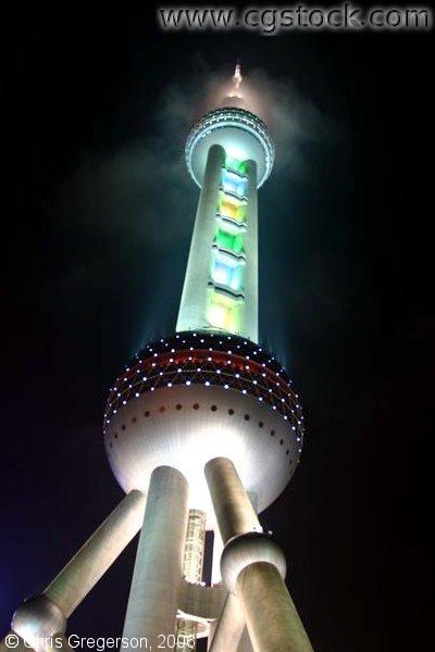 Pearl of the Orient Tower in in Pudong New Area, Shanghai, China