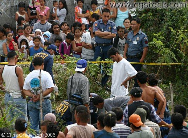 Crime Scene Where Dead Body of a Young Filipino Boy was Disovered