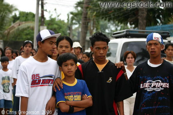 Cousins and Friends of Reynaldo in his Funeral Procession