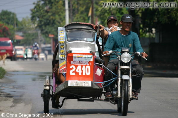 Tricycle Traveling in Angeles City, Pampanga