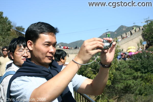 William Taking a Photo of Great Wall of China