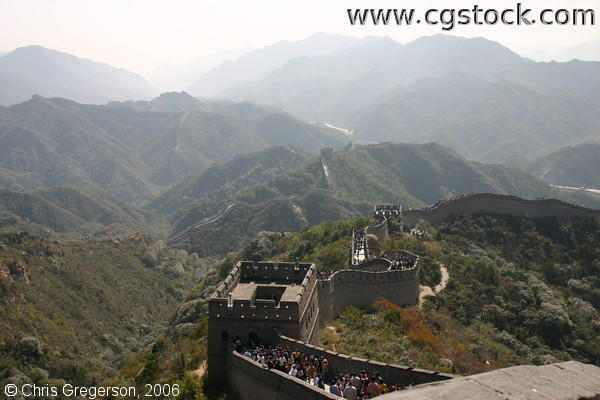 Watchtower and the Winding Great Wall of China