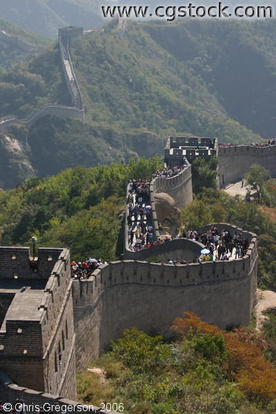 The Winding Great Wall of China near Badaling