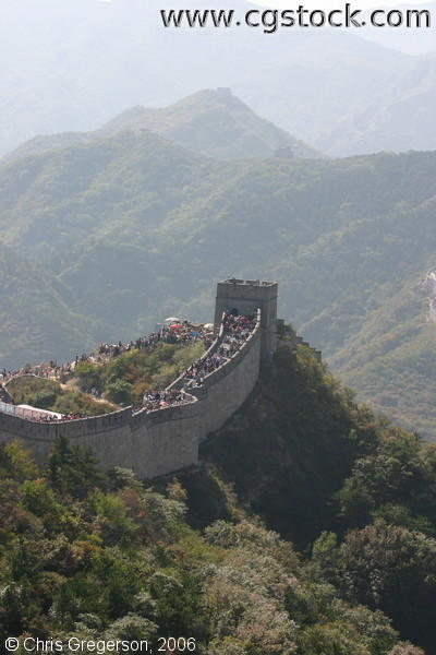 A Watchtower Among the Mountains on the Greate Wall of China