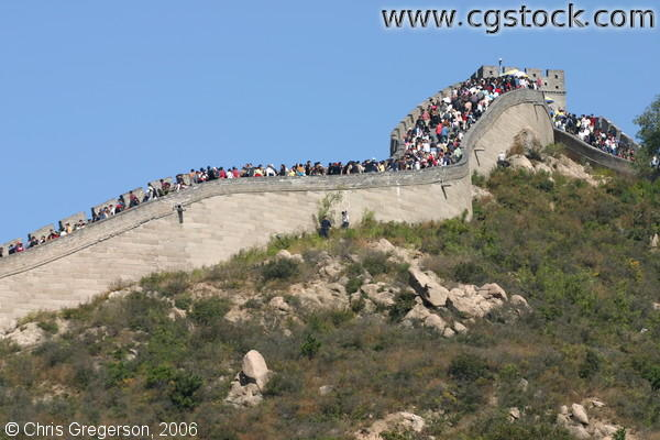 Crowd of People at the Great Wall of China